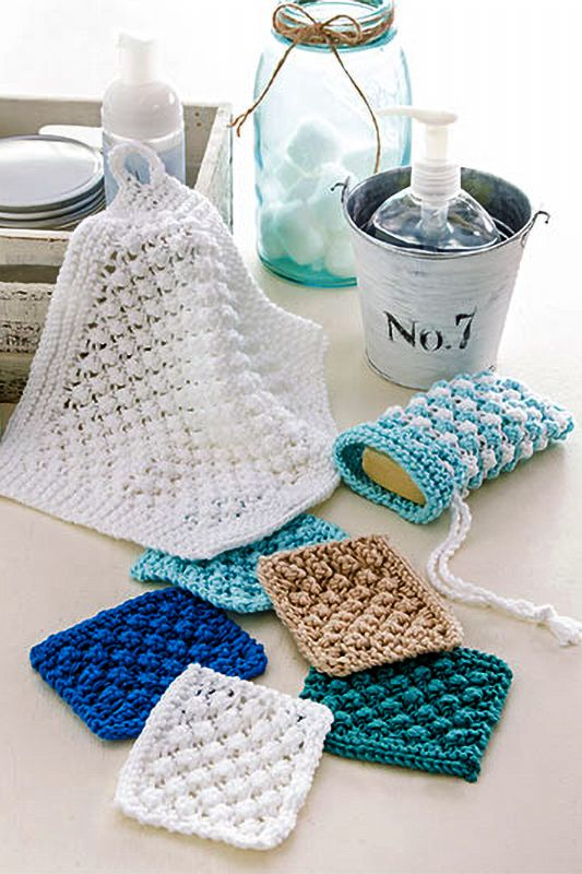 Dishcloth and Washcloth Knitting Patterns | knit wit | Pinterest ...