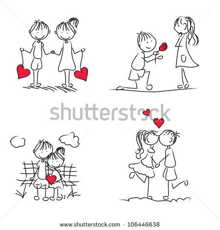 Doodle Love Stock Photos, Images, & Pictures