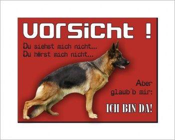 Schaferhund Schild Vorsicht Ich Bin Da Schaferhunde Hunde Schilder