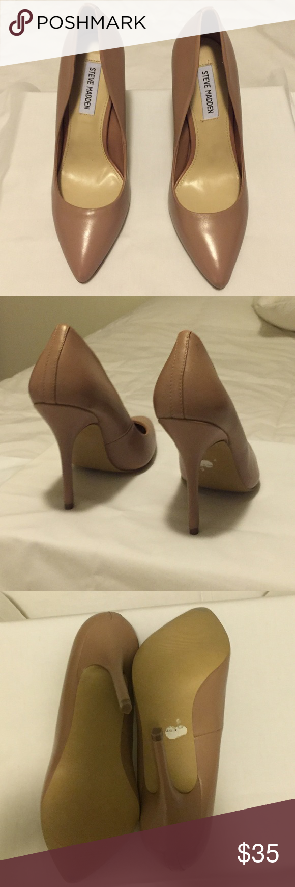 "Steve Madden women's Galleryy pump Beautiful blush color pump. Leather, approximately 4"" heel. Never been used Steve Madden Shoes Heels"