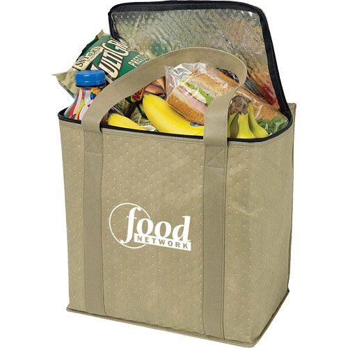 Zippered Insulated Grocery Tote Bag Promotional Ping Bags 2 58 Ea