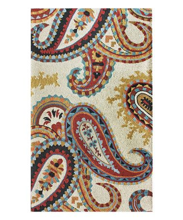 Another Great Find On Zulily Red Yellow Paisley Wool Rug Zulilyfinds Paisley Rug Hand Tufted Rugs Wool Area Rugs