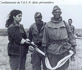 An Algerian Female Soldier Of The Algerian Liberation Army Captured By The French Army During The Algerian Re African Empires Historical Figures Female Soldier