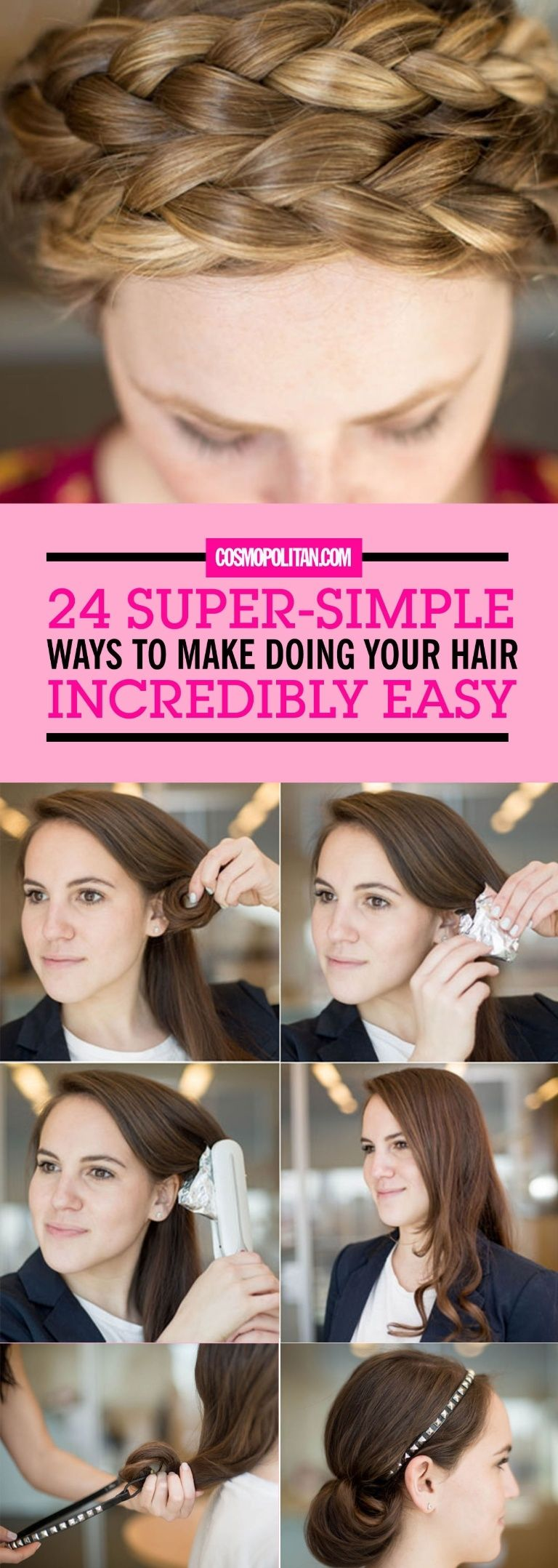 15 Super-Simple Ways to Make Doing Your Hair Incredibly Easy | Quick curly hairstyles, Hair ...