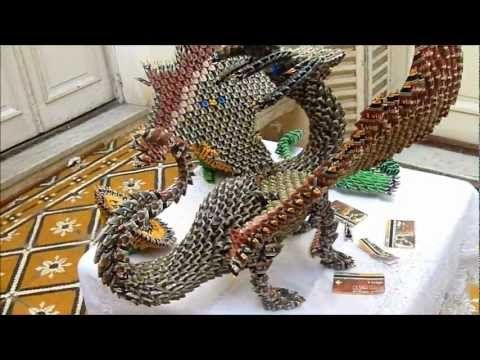 how to make a dragon with paper step by step