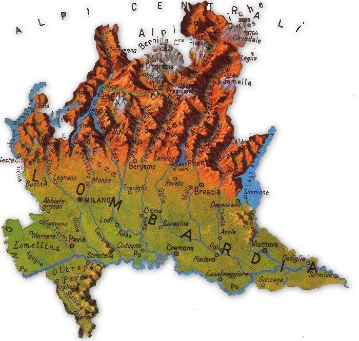 Cartina Geografica Della Brianza.Cartina Della Lombardia Carte Geografiche Geografia Mappe