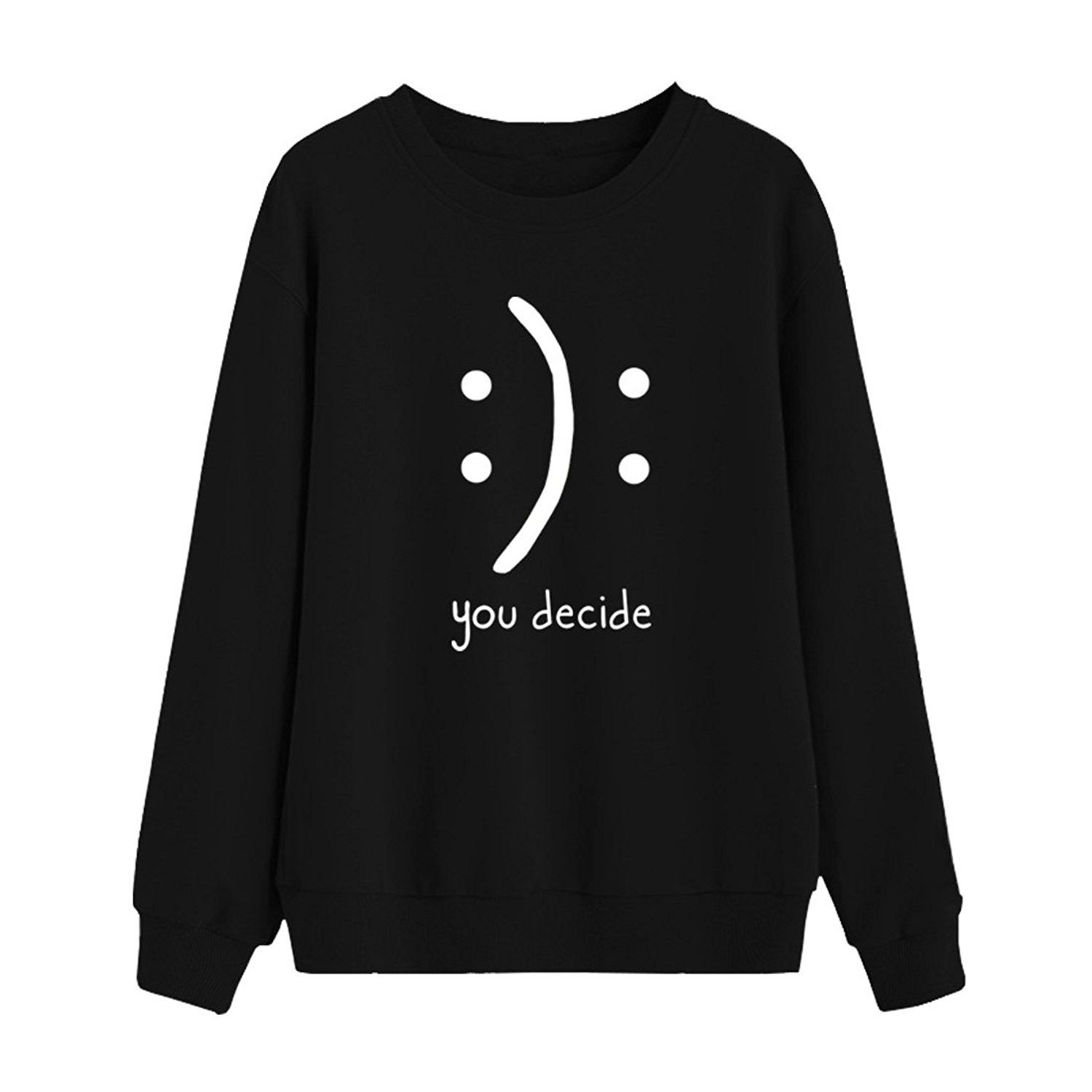 Women Round Neck Sweaters Graphic Cute Pullover Long Sleeve Funny Sweatshirts Black Cr187cc5dxm Funny Sweatshirts Funny Outfits Sweatshirts [ 1500 x 1500 Pixel ]