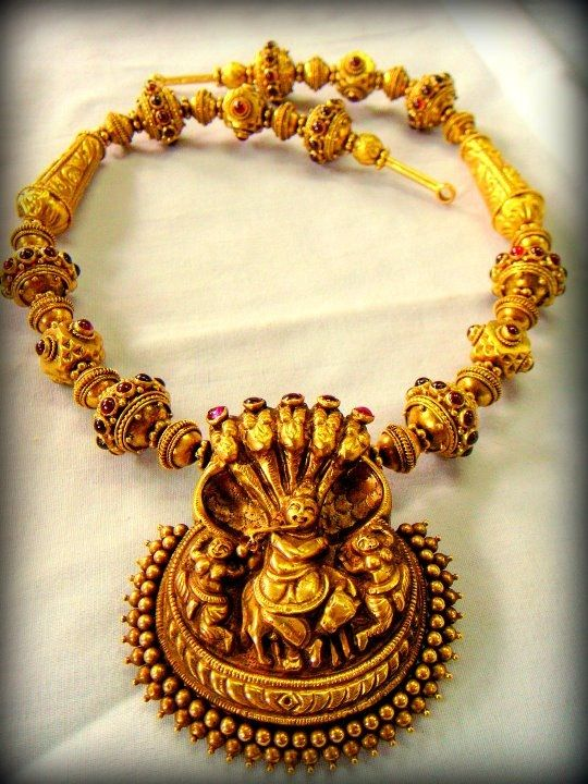 NL4134 Indian Temple Traditional South Jewellery Haram Latest New ...