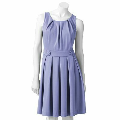 Elle pleated dress in Baja Blue. Another clearance score from Kohls