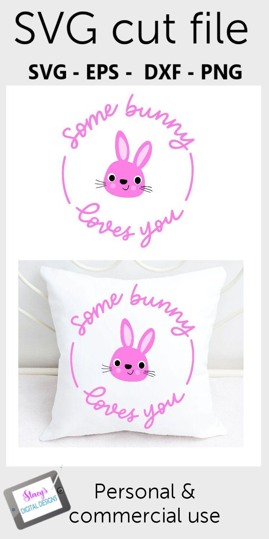 Download Easter SVG - Some bunny loves you, handlettered