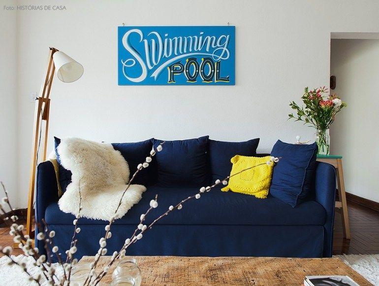 Muito Encontro de histórias | Decoração sala sofa azul, Sofás azul  GM99