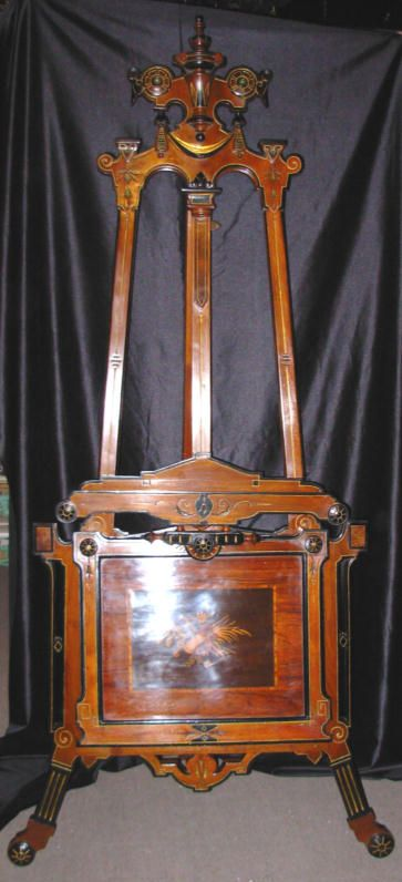 WOW!!! Gorgeous!  Victorian Inlaid Kilian  Easel