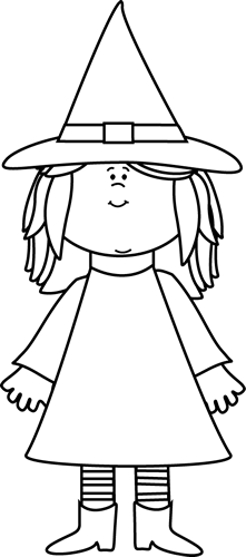 Black And White Witch Clip Art Black And White Witch Image Halloween Kids Halloween Templates Halloween Art
