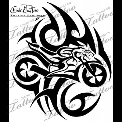 Marketplace Tattoo Tribal Lion Sportbike 11413 Createmytattoo Com Tatouage Moto Modele Tatouage Dessin Noir Et Blanc