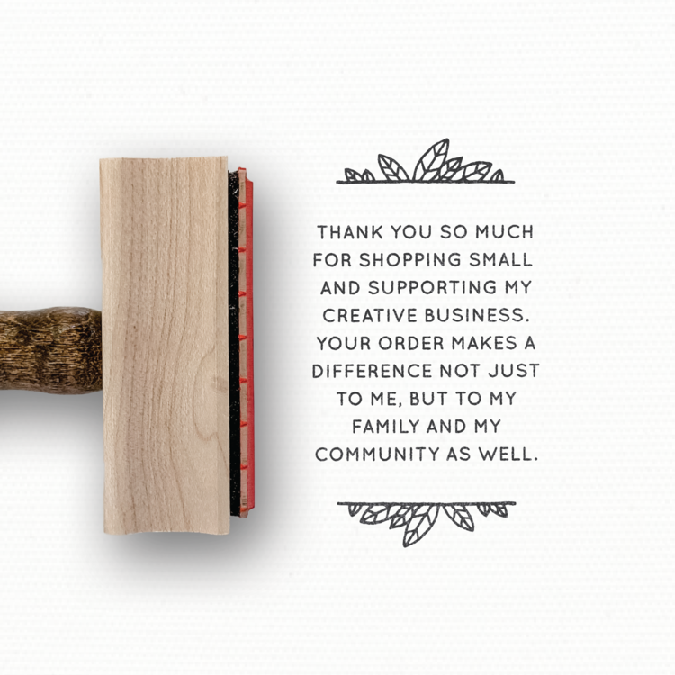 Rubber Stamp - Creativepreneur / Creative Business Thank You Stamp — Modern Maker Stamps