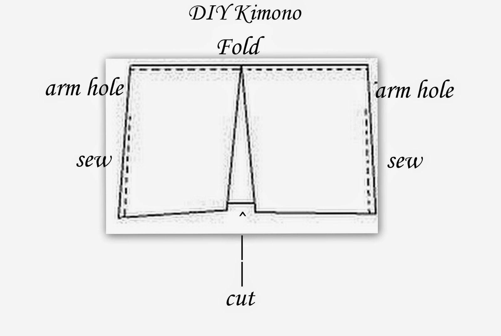 trend kimono jacket, easy DIY, how to make a kimono, DIY kimono ...