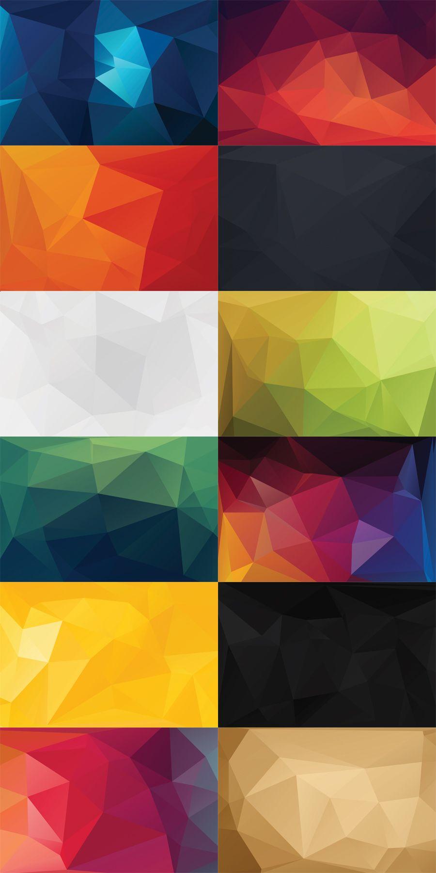 12 Free Polygon Backgrounds Geometric Visitenkarten