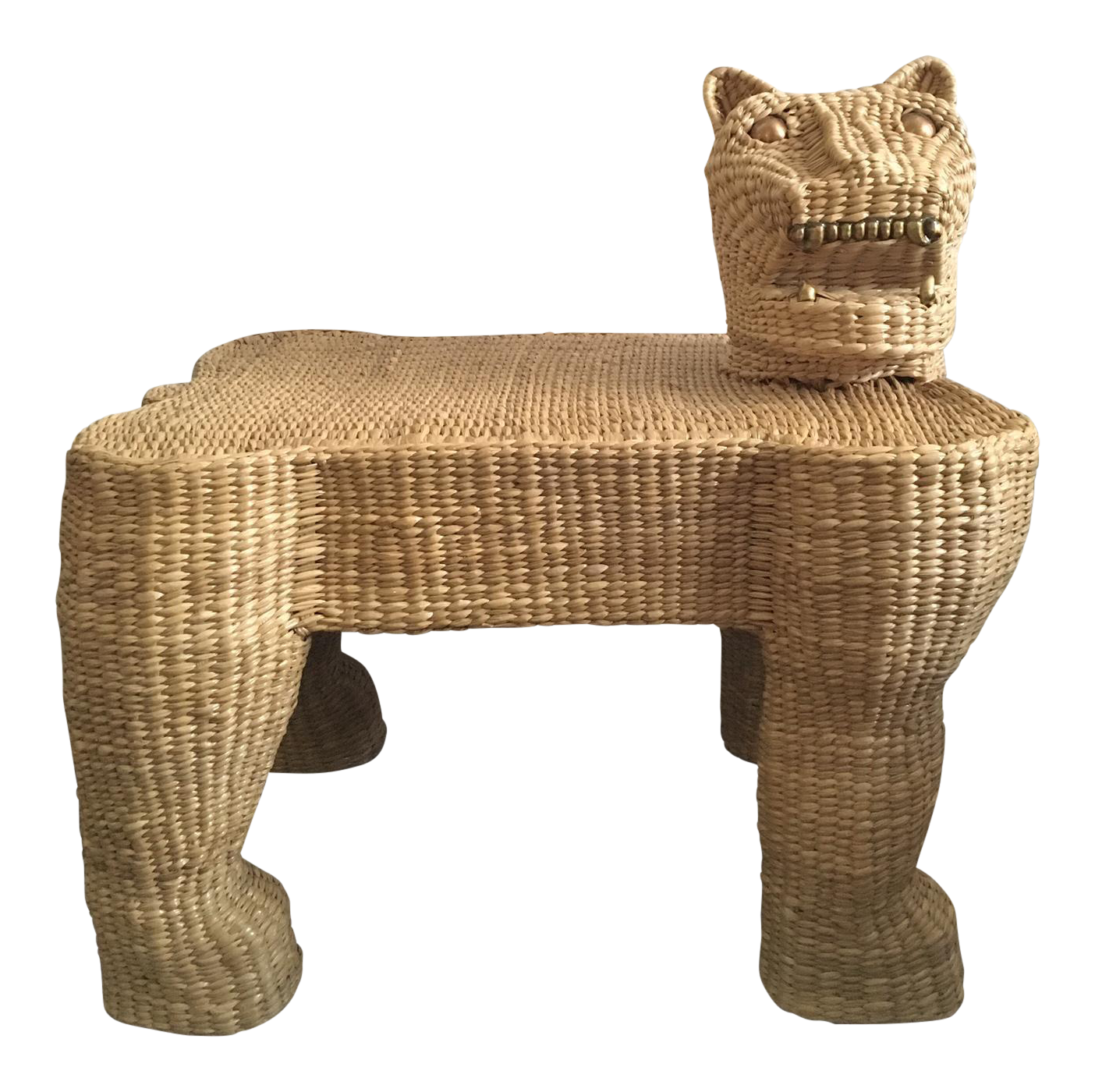 You Know You Love Mid Century Modern Design If: Mid-Century Mario Lopez Torres Wicker Panther Bench