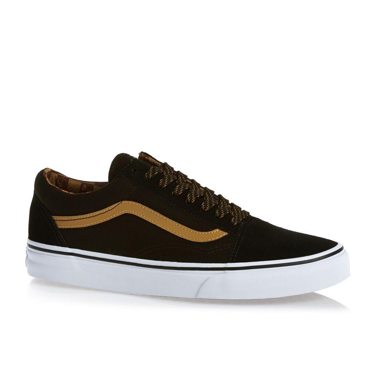 Vans Old Skool Shoes - Captain Fin Black/buckthorn Brown