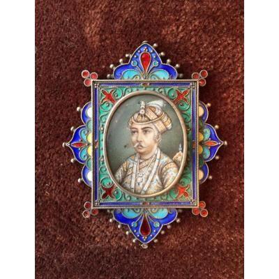 Portrait d'Un Indien, Miniature 19ème  Sièc[...]