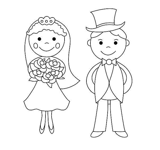 Ausmalbilder Hochzeit zum Ausdrucken  Braids