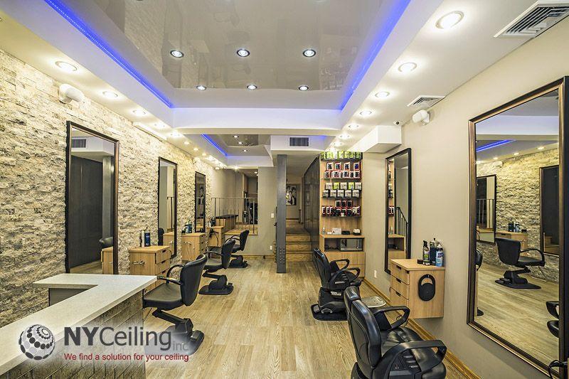 Man Cave Barber Dublin : Nyceiling inc. portfolio beauty salons glossy stretch