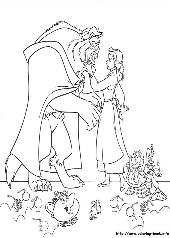 Beauty and the Beast coloring picture | Disney\'s Princess Coloring ...
