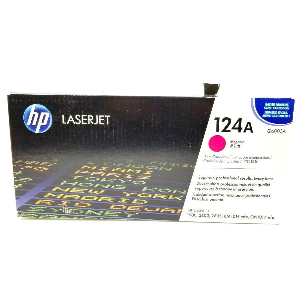 Q6003a 124a Genuine Hp Magenta Toner For Color Laserjet 1600 2600n 2605 2605dn Hp Toner Printer Ebay