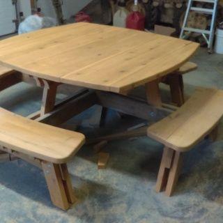 Awe Inspiring Square Picnic Table Plan Diy Because I Can Picnic Beutiful Home Inspiration Aditmahrainfo