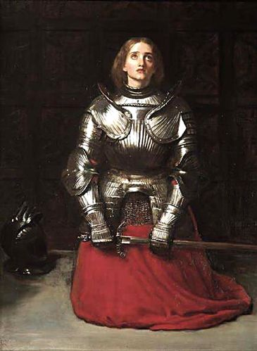 "Painting by Sir John Everett Millais of Joan of Arc painted in 1865 titled:  ""Joan of Arc"""