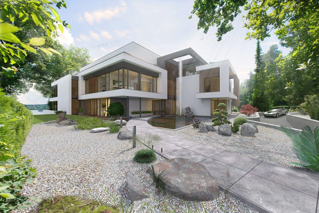MFH Seevilla Starnberger See Neubau Moderne architektur