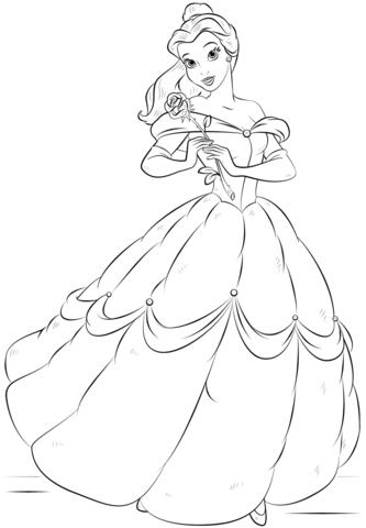 Belle Coloring Page Alysha Wedding