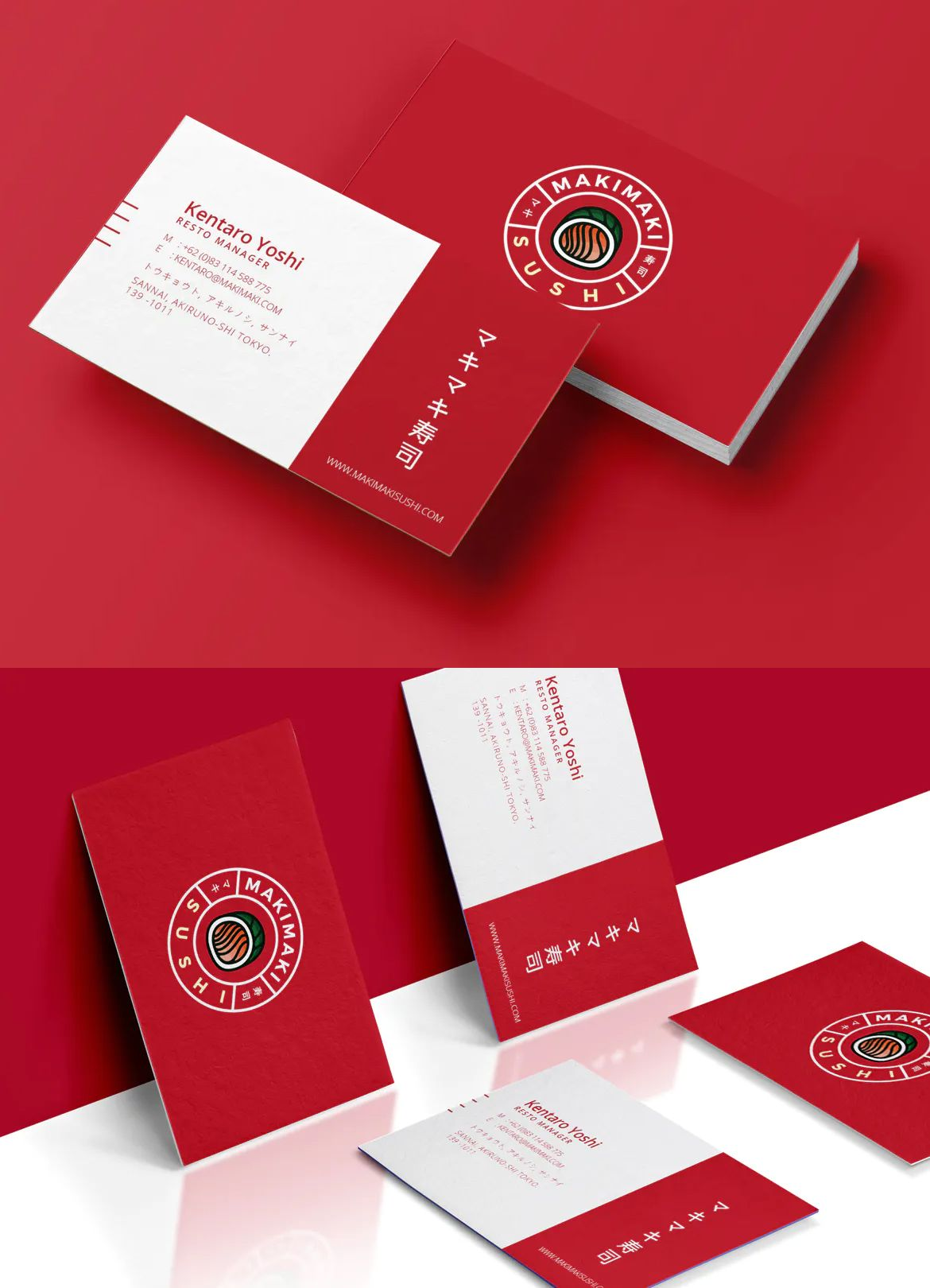 Sushi Business Card By Micromove On Envato Elements Business Card Template Business Cards Luxury Business Cards