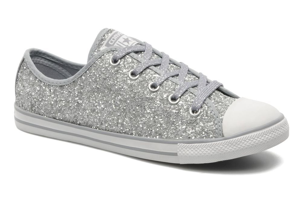 4cd4d73a94ad Women s Converse All Star Dainty Sparkle Canvas Ox W Low rise Trainers in  Grey