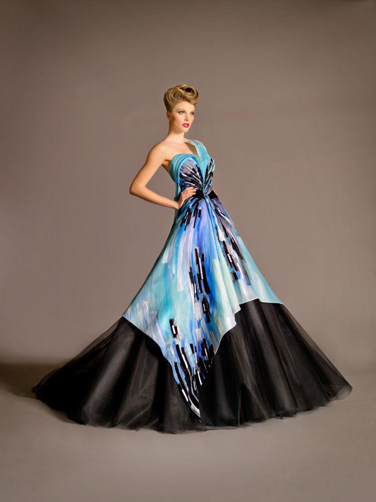 Blanka Matragi uchvacuje svojou kolekciou Haute Couture 2012 – pomýlite si ju ľahko s umením! | Moda.sk