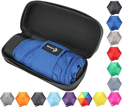 Travel Umbrella with Waterproof Case - Small, Compact Umbrella for Backpacks, Purses, Briefcases or #smallumbrella