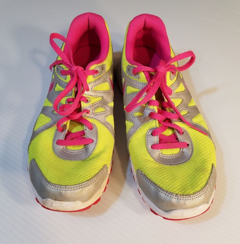 3f2f1166e0 NIKE REVOLUTION 2 Girls Youth Size 6 Running Shoes Neon Yellow Pink Gray # Nike #Athletic #Casual