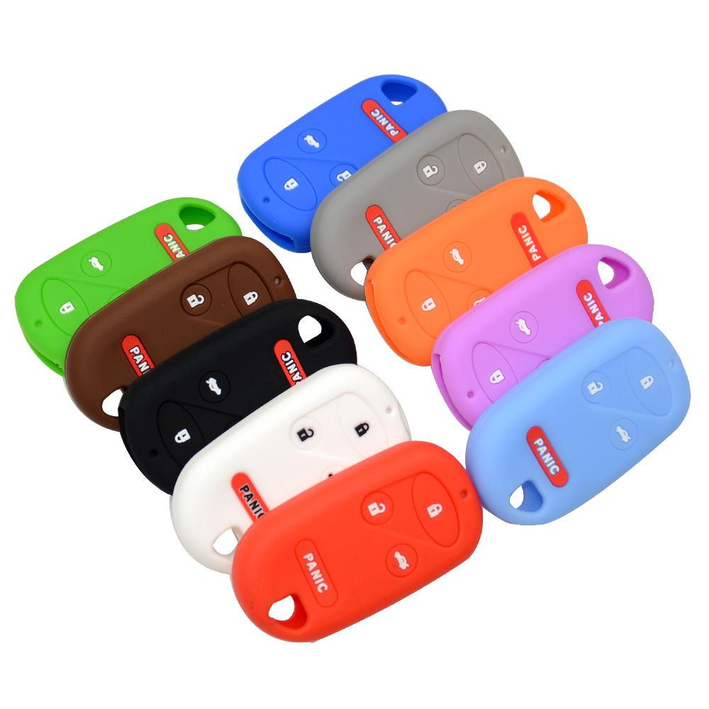 Silicone 4 Button Key Fob Remote Cover Case Jacket For