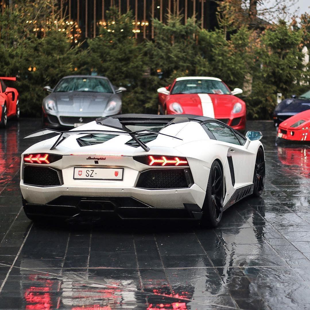 Novitec Torado Aventador Roadster. #ItsWhiteNoise #Lamborghini #RainyDay @swiss_automotive