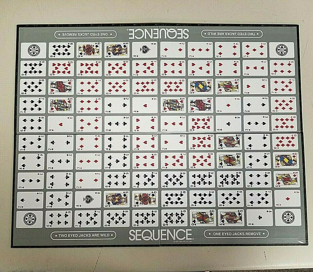 SEQUENCE Board Game Replacement Game Board and