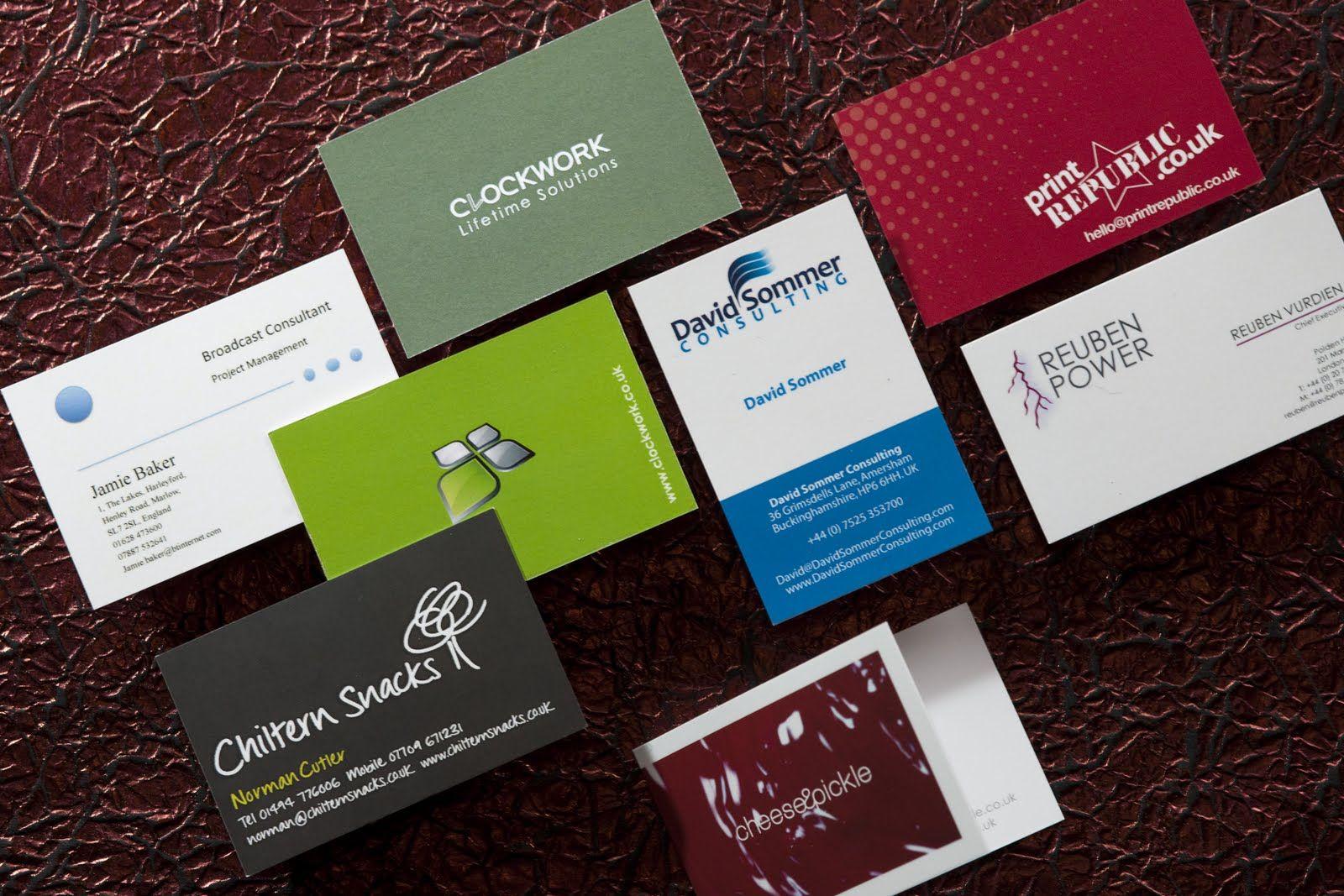 Holen Sie Sich Visitenkarten Gedruckt Billig Zusammen Mit