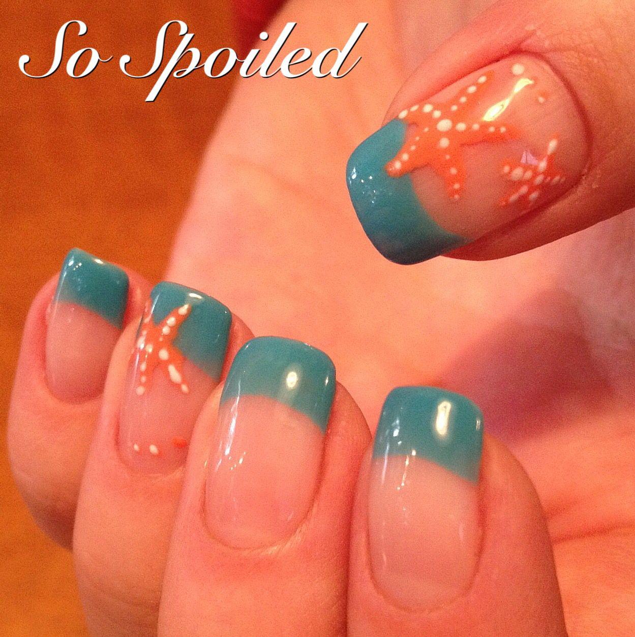 Hand Painted Nail Art Simple: Bio Sculpture Gel Nail Art & Design. Spring 2015 Or Winter