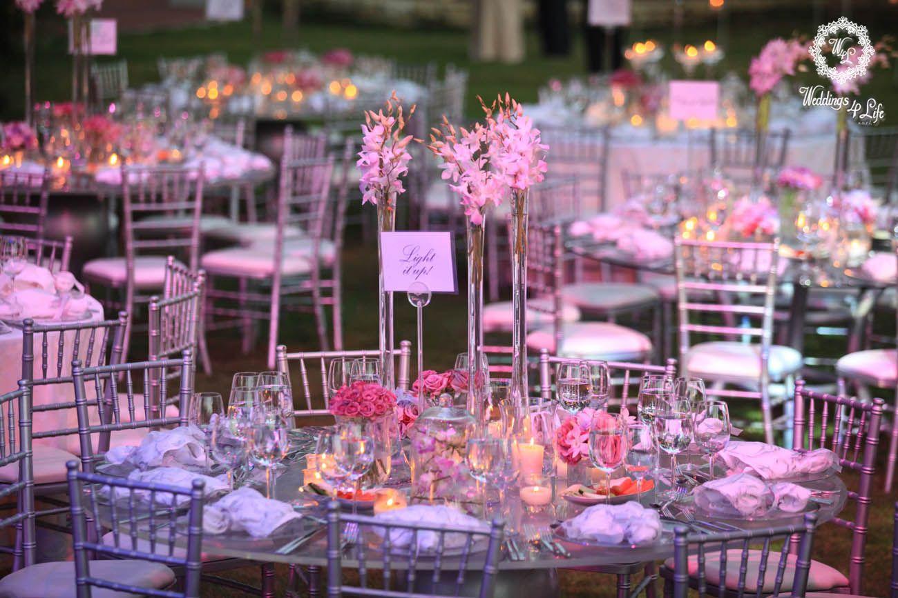 Light it up candles flowers centerpiece wedding faraya