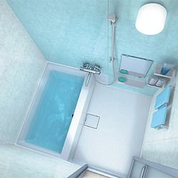 Toto Frp Ofuro Japanese Bathtub Integrated In Shower Japanese Bathroom Small Space Design Tub