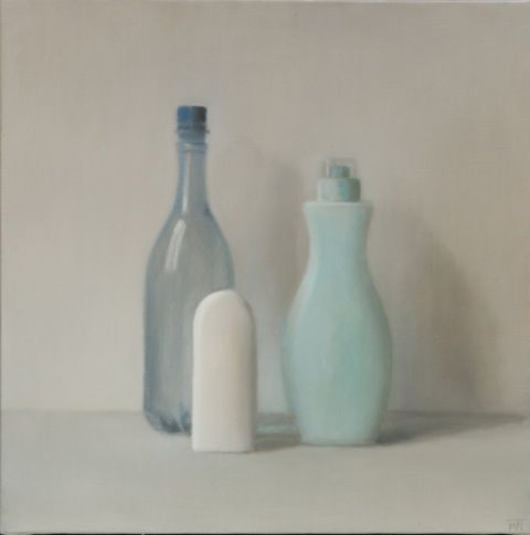 Plastiques 33 (2014, 50x50 cm, huile sur toile) www.mariontivital.com
