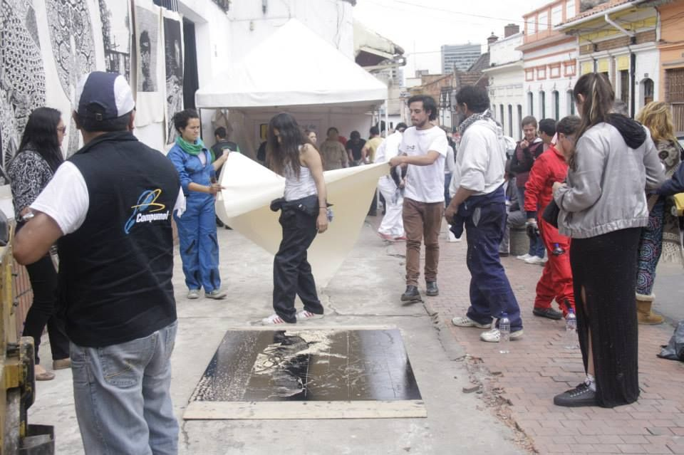 Grabado sobre Ruedas,  Carmen Von Wolkenstein ,  Universidade de Los Andes, Bogotá