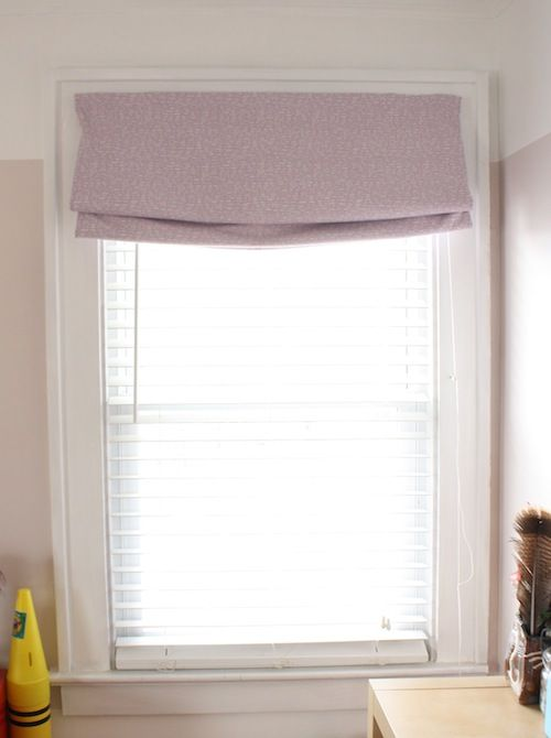How To Make A Roman Shade From Bed Sheet Diy