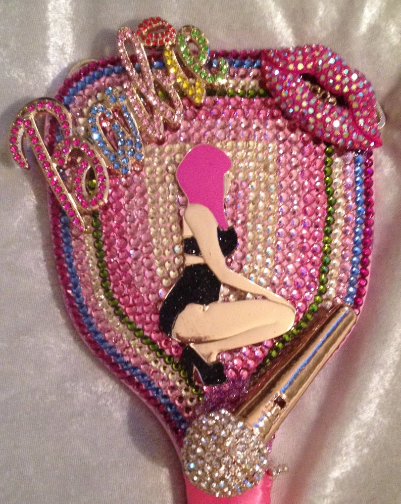 Pin By Felicia S Event Design And Pla On Crafts Altered Rhinestone Crafts Diy Rhinestone Pink Bling
