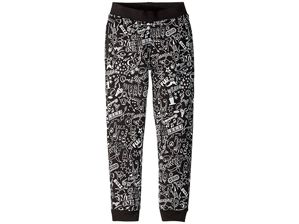 Stella McCartney Kids Joseph All Over Printed Jogger ToddlerLittle KidsBig Kids Black Boys Casual Pants Be chill and rock on in these comfortable Stella McCartney Kids Jo...