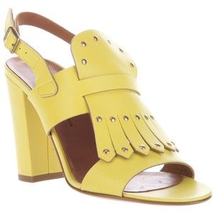 Michel Vivien Giallo Heeled Sandals